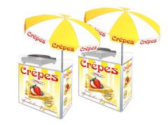 Crêpes-Marktstand