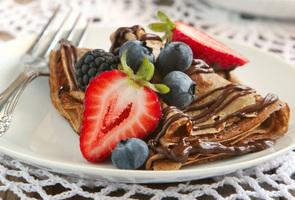 Crêpe Nutella + Erdbeeren